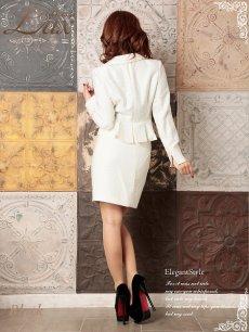 画像5: 【Belsia Lux】ゴールド美ラメ入ツイード品格セレブスーツ/フォーマルスーツ/ベルシアリュクス/全2色(S/M/L) (5)